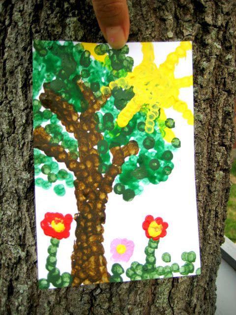q-tip painting