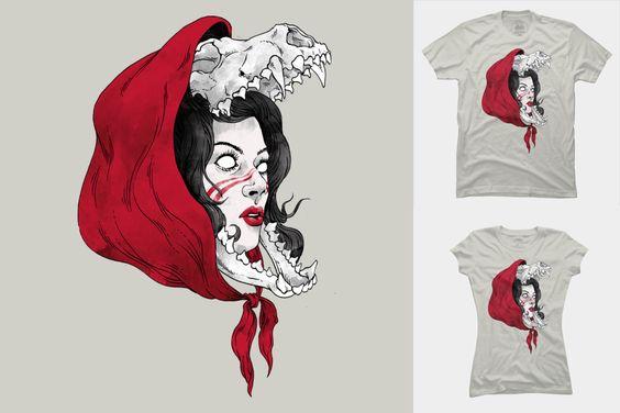 Red Ghost by zakihamdani Available at a tshirts, tank top, sweatshirt, hoodie, phone case or art print at DesignByHumans!