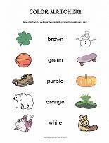 color matching worksheet from learning colors. Black Bedroom Furniture Sets. Home Design Ideas