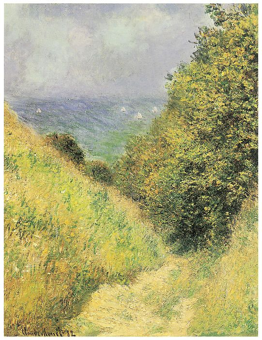 Chemin De La Cavee At Pourville  Claude Monet