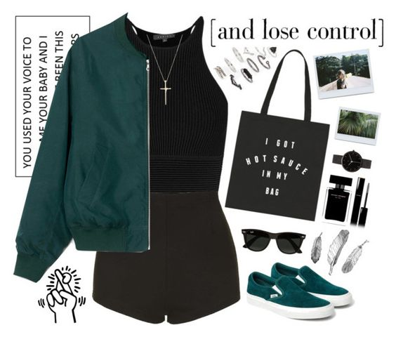 """""""And lose it all"""" by a-olga2000 ❤ liked on Polyvore featuring Topshop, Narciso Rodriguez, Chanel, I Love Ugly, Tiffany & Co., Ray-Ban, women's clothing, women, female and woman"""