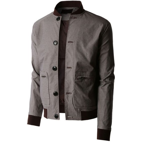 LE3NO Mens Lightweight Slim Fit Windbreaker Bomber Jacket ($35) ❤ liked on Polyvore featuring mens, men's clothing, men's outerwear and men's jackets