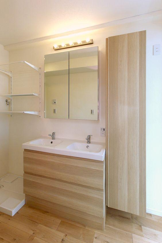 Ikea洗面室リフォーム 2ボウルタイプ Godmorgon グモロン 洗面台