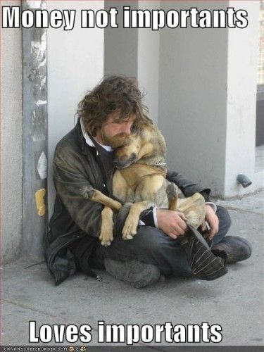 There's a reason dog is man's best friend. This picture just radiates love.