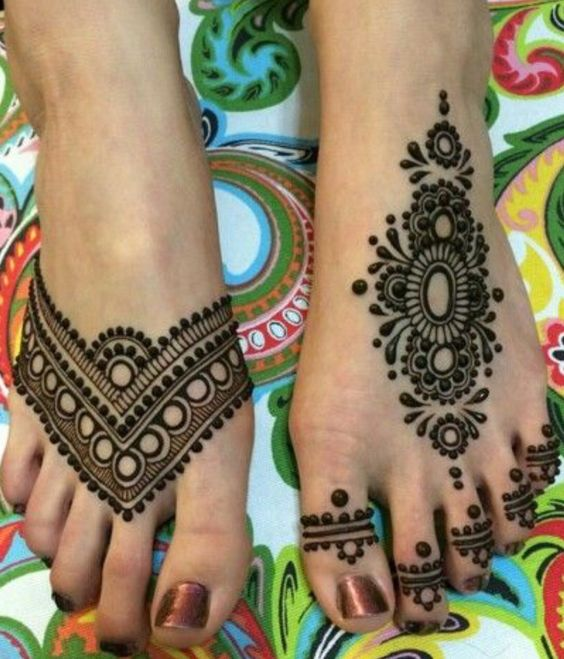 Foot henna and Henna on Pinterest