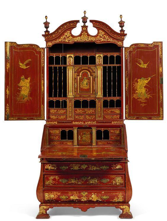 A George II Bureau-Cabinet by Giles Grendey (c. 1740)