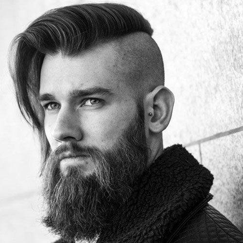 Best Undercut With Beard Styles 2020 Guide Undercut Long Hair Long Hair Styles Men Thick Hair Styles