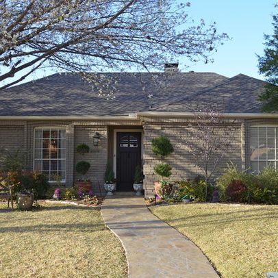 We painted the house exterior to update its 70s for Exterior updates for ranch style homes