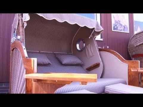 """Strandkorb Modell """"Kampen Teak Bullauge"""" - Strandkorbprofi Buxtehude - YouTube"""