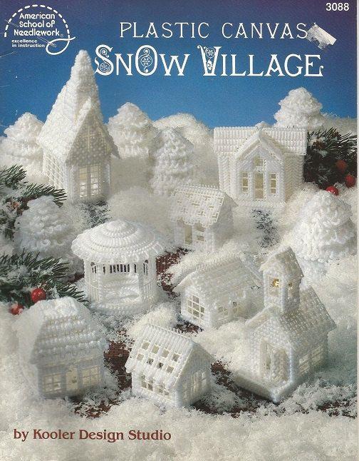 Plastic  Canvas Pattern Snow Village Christmas Village