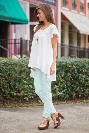 Flow You Away Top, Ivory