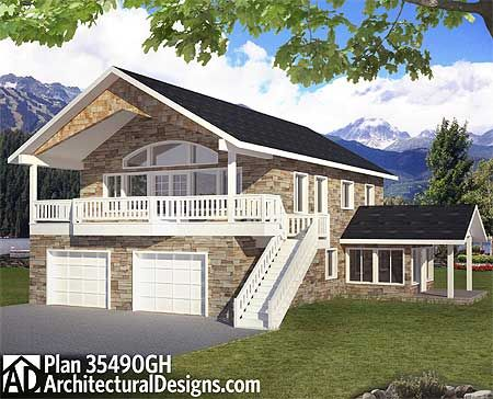 Plan 35490gh flexible house plan for many uses carriage for Flexible house plans