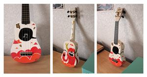 Monster Custom Ukulele by aj00