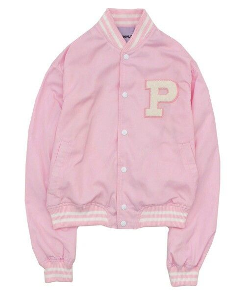 Punyus light pink college jacket / stadium jumper | DYT ✰ 1/4 ...