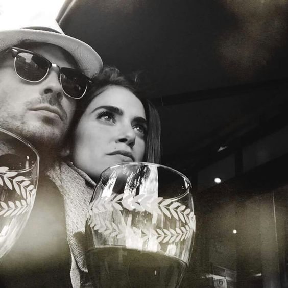 Nikki Reed and Ian Somerhalder in Paris,  France/ that they would love this picture together shows how silly they both are and how perfect they are for each other