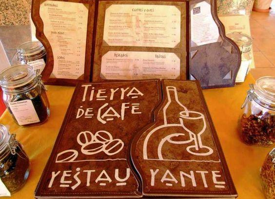 Tierra de Cafe, Restuarante Menu at Finca Argovia, Nueva Alemania, Chiapas.