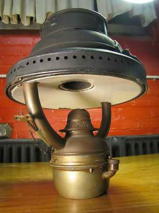 """Cool brass heater for the salon table. That's """"high fashion"""" on Armadillo Island."""
