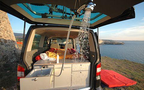 Van's in ein Campingmobil umbauen mit dieser Ausstattung möglich.
