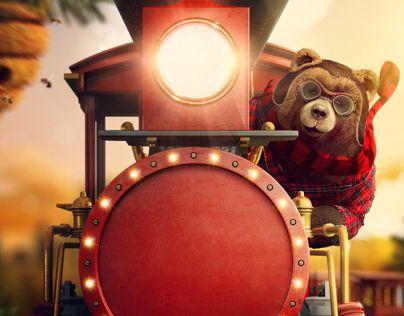 """Confira este projeto do @Behance: """"Iguatemi Natal dos Ursos""""…"""