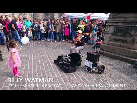 Incredible 14 Year Old Child Busker Bohemian Rhapsody On Classical