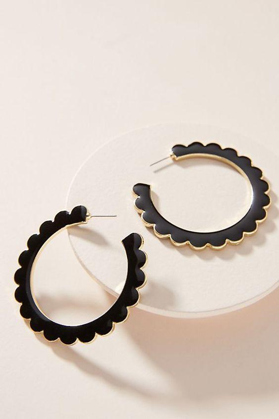 Slide View: 1: BaubleBar Desideria Hoop Earrings