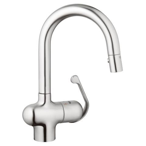 Grohe Ladylux Single Handle Prep Sink Faucet Stainless Steel