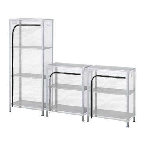Hyllis Scaffali Con Fodere Trasparente 180x27x74 140 Cm Ikea It Shelving Unit Outdoor Storage Bench Shelving
