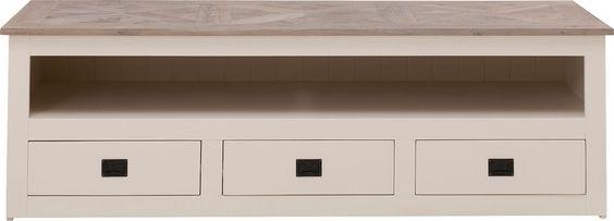 TV meubel Velante is een schitterend landelijk meubel voor een scherpe prijs! Daarmee haalt u romantiek in huis. Velante is een eigentijds, ambachtelijk gemaakt meubel met een massief bovenblad, met daarin een prachtig motief. Door zijn warme gekleurde lakafwerking een aanwinst voor uw kamer. Het massieve bovenblad is gemaakt van rustiek eiken in de olie en helemaal met de hand gemaakt. Het open vak biedt plaats voor apparatuur en 3 laden geven ruimte voor bijv. de afstandbediening!