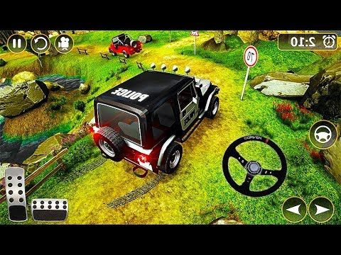 Offroad Police Jeep 4x4 Driving Racing Simulator Police Car