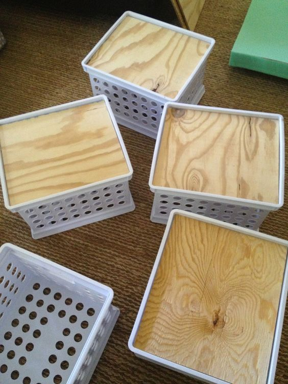 The Eager Teacher: Did It Myself Crate Stools!