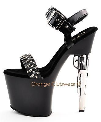 PLEASER Stripper Platforms Gun High Heels Sexy Shoes | My Style