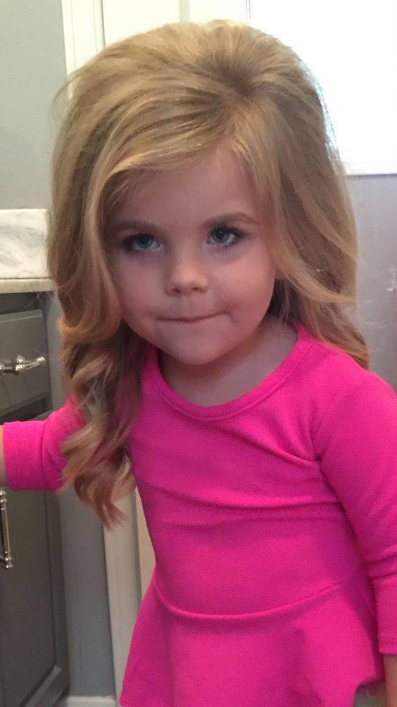 Toddler pageant hair and make up