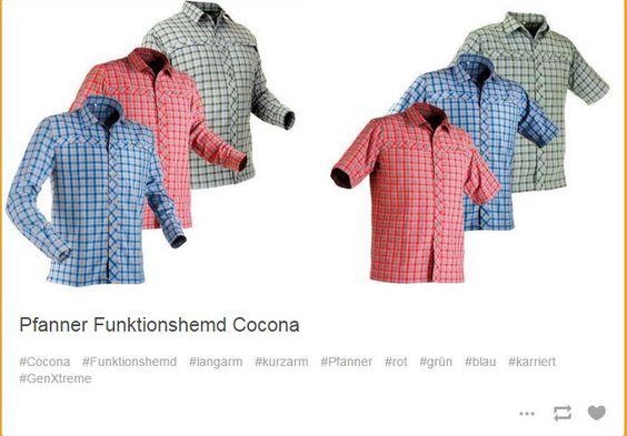 Das Pfanner Funktions Hemd langarm und das Pfanner Funktionshemd kurzarm Cocona.   #karriert #rot #blau #grün #Funktion #Hemd #kurzarm #langarm #Concona #Pfanner #GenXtreme #outdoor #workwear