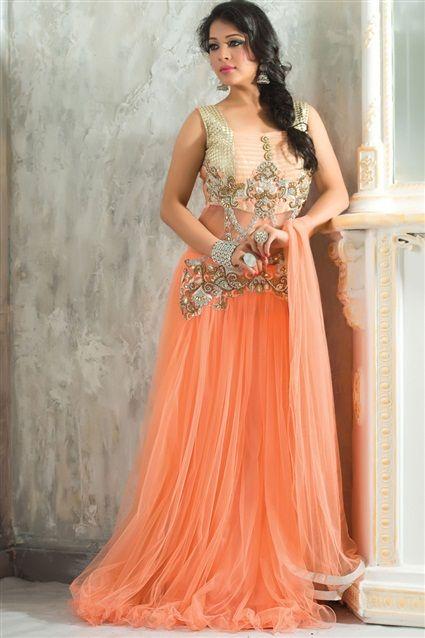 Angelic Wedding Wear Designer Gown - $224.84