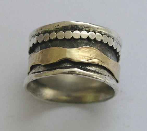 Wedding ring Meditation ring spinner ring mens by artisanlook