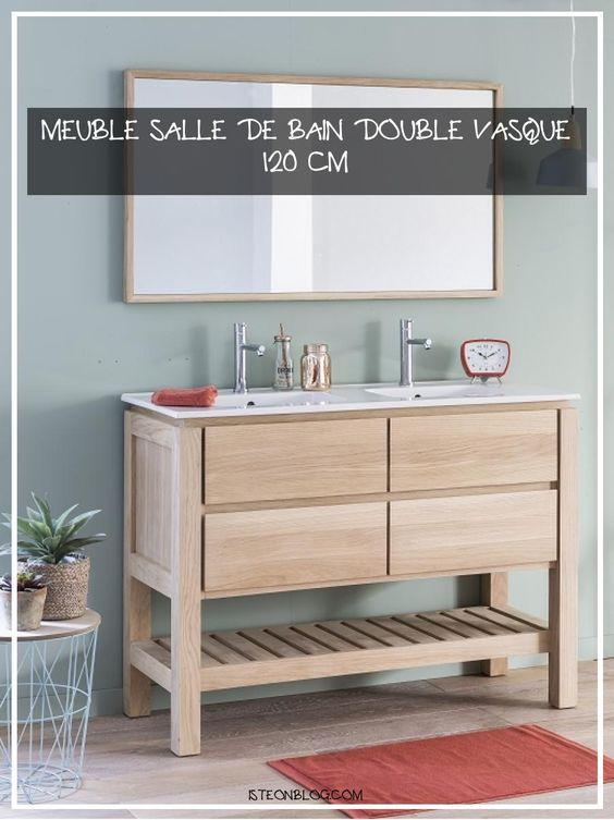 Meuble Salle De Bain Double Vasque 120 Cm En 2020 Meuble Salle De Bain Salle De Bains Double Vasque Meuble Salle A Manger