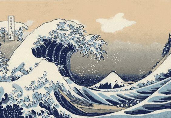 Resultado de imagen de gif hokusai