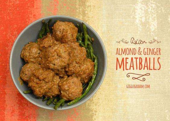 Almond ginger Asian meatballs