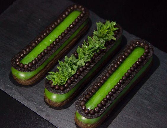 Mint èclair #chocolate #eclair #choux #pastrychoux: