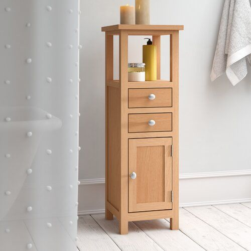 Brambly Cottage 33 X 100cm Free Standing Tall Bathroom Cabinet In