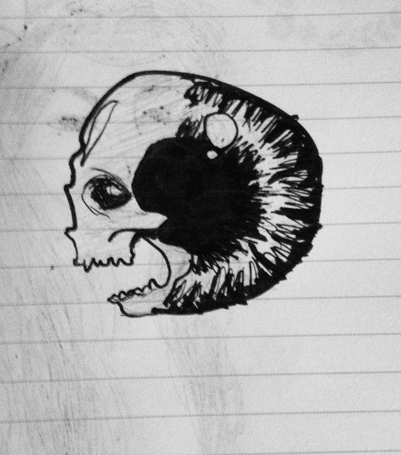 Œil/crâne refait ❤️