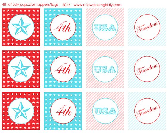 4th of July free party printables