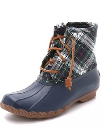 navy blue plaid Sperry rain boots | For Rainy Days | Pinterest ...
