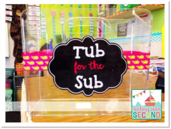 Create Your Own Sub Tub With All My Classroom Information