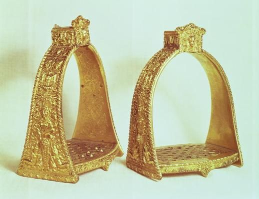 Stirrups belonging to Louis XIV, 17th C: