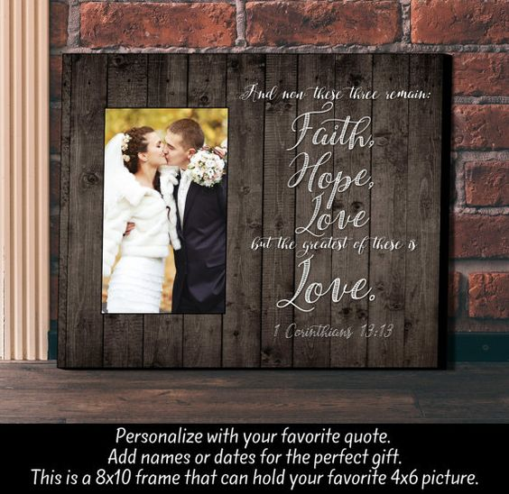 Personalized Picture Frame Wedding Gift by TheLetterGiftShop