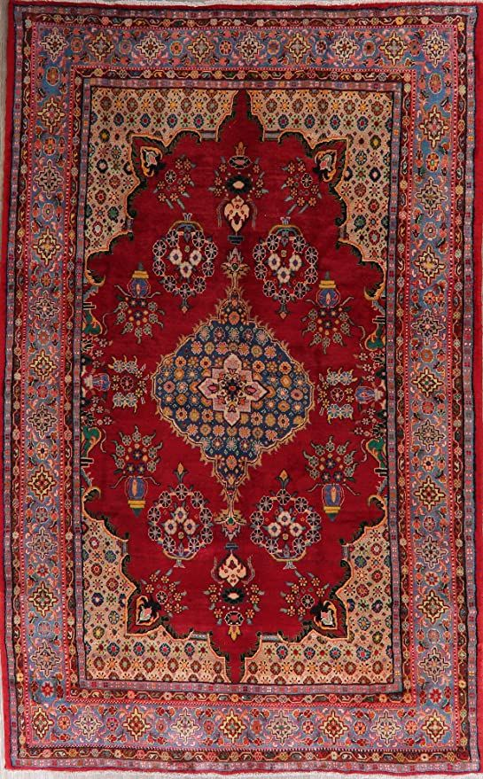 Geometric Viss Red Area Rug Handmade Oriental Living Room Carpet 7x12 7 2 X 11 6 In 2020 Living Room Carpet Oriental Living Room Red Area Rug