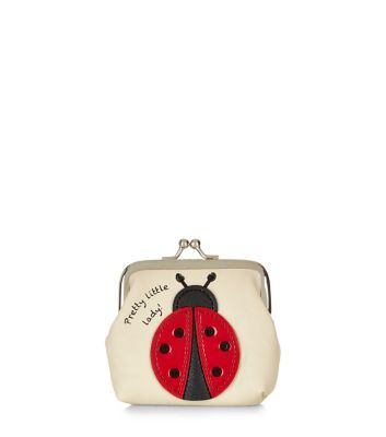 Stone Ladybird Clip Frame Purse