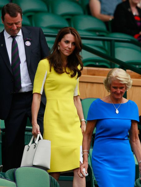 Kate Middleton Photos - Gill Brook and Catherine, Duchess of Cambridge watch on from The Royal Box during the Ladies Singles Semi Final match between Venus Williams of The United States and Angelique Kerber of Germany on day ten of the Wimbledon Lawn Tennis Championships at the All England Lawn Tennis and Croquet Club on July 7, 2016 in London, England. - Day Ten: The Championships - Wimbledon 2016: