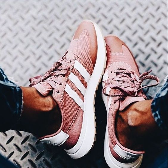 Dusty pink sneakers